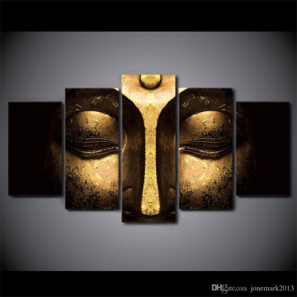 2017 Canvas Art Buddha Peaceful Hd Printed Wall Art Home Decor In Five Piece Wall Art (View 20 of 20)
