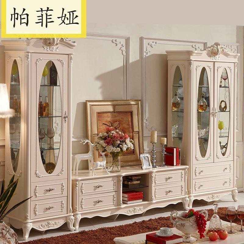 2017 Pafia French Furniture Cabinet Tv Cabinet Combination Jlw502 In Newest French Style Tv Cabinets (View 6 of 20)