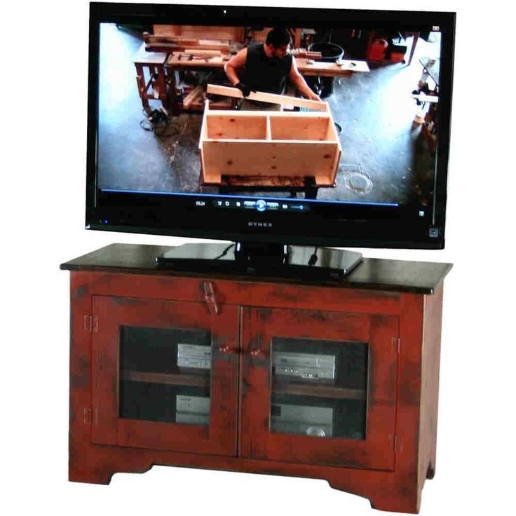 21 Best Tv Stands Images On Pinterest | Primitive Furniture For Recent Red Tv Cabinets (Image 1 of 20)