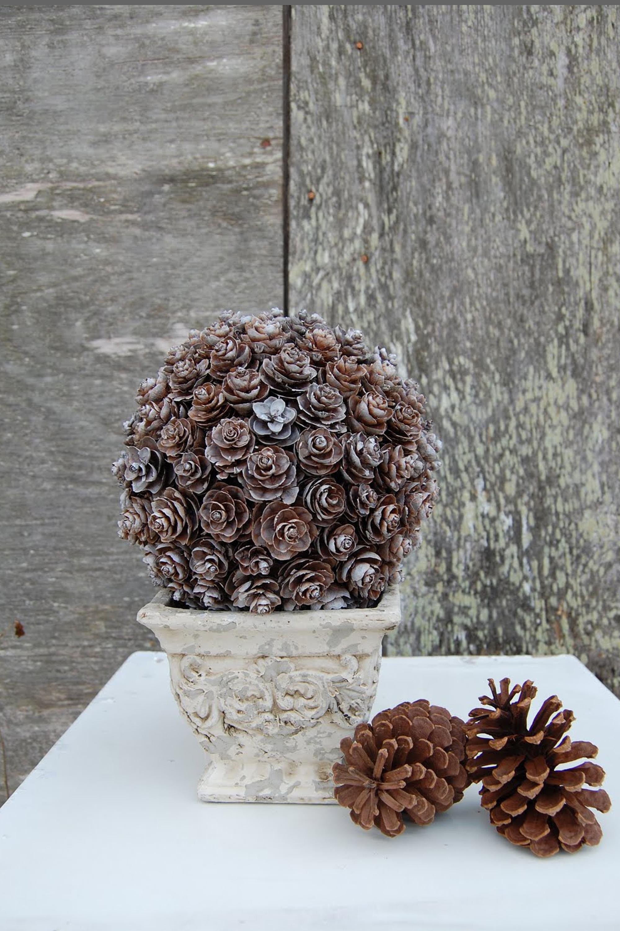 21 Holiday Pine Cone Crafts – Ideas For Pinecone Christmas Decorations Throughout Pine Cone Wall Art (Image 1 of 20)