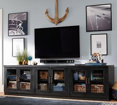 22 Best Entertainment Center Images On Pinterest | Tv Stands For Most Up To Date Long Black Tv Stands (Image 2 of 20)