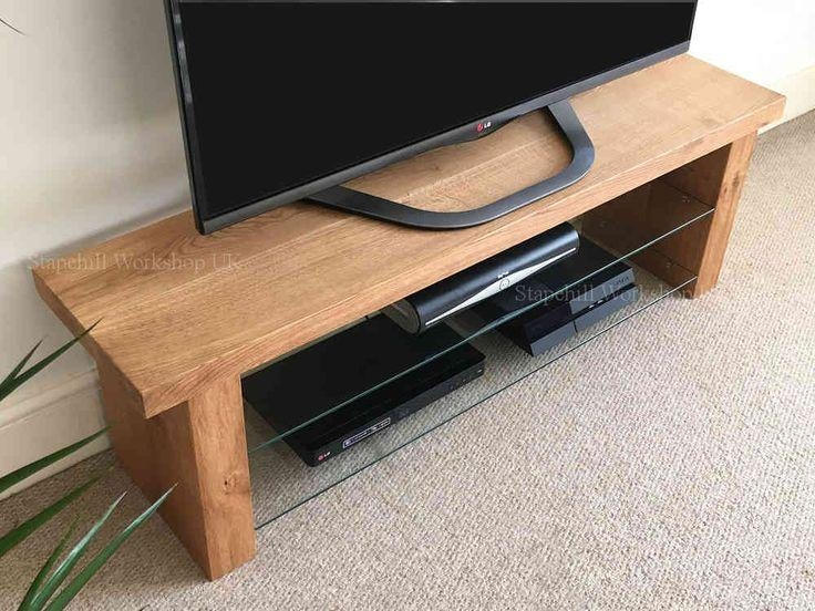22 Best Plasma Units Images On Pinterest | Tv Stands, Plasma Tv Within Best And Newest Glass And Oak Tv Stands (Image 1 of 20)
