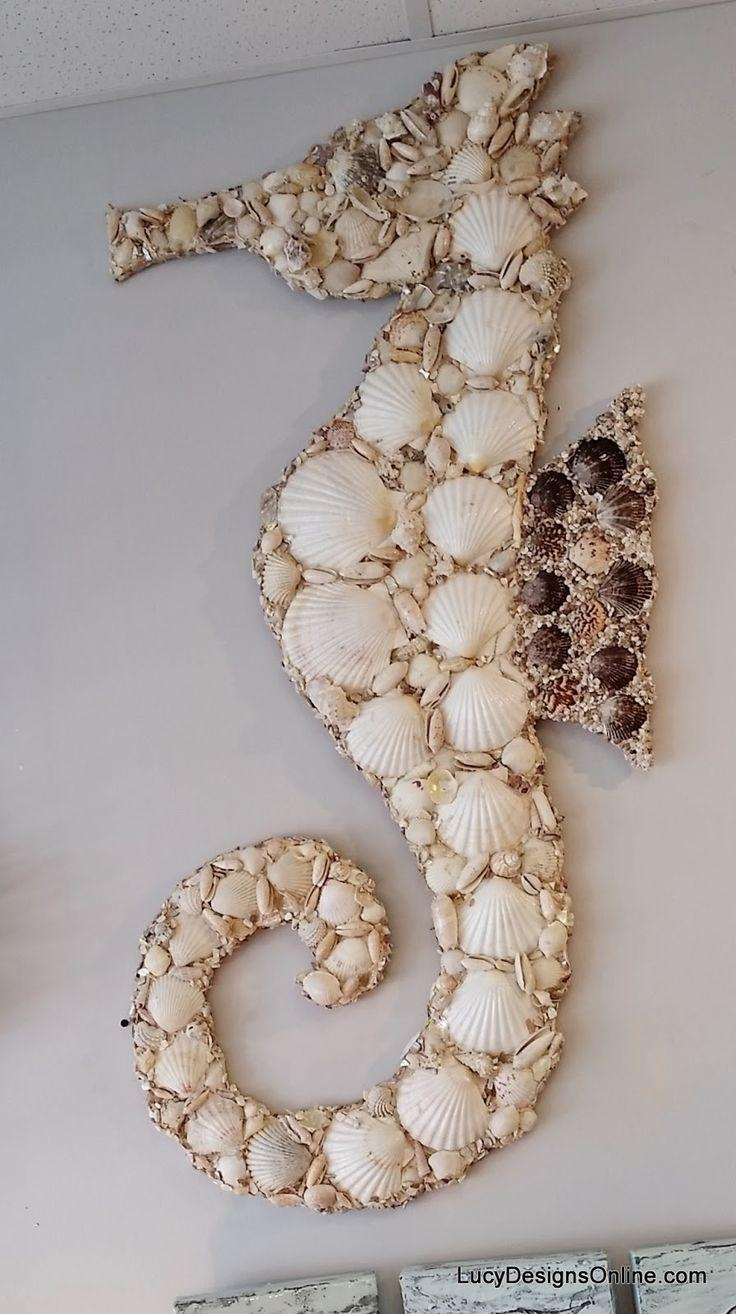 223 Best Seashell Crafts Images On Pinterest | Shells, Seashell Pertaining To Wall Art With Seashells (Image 1 of 20)