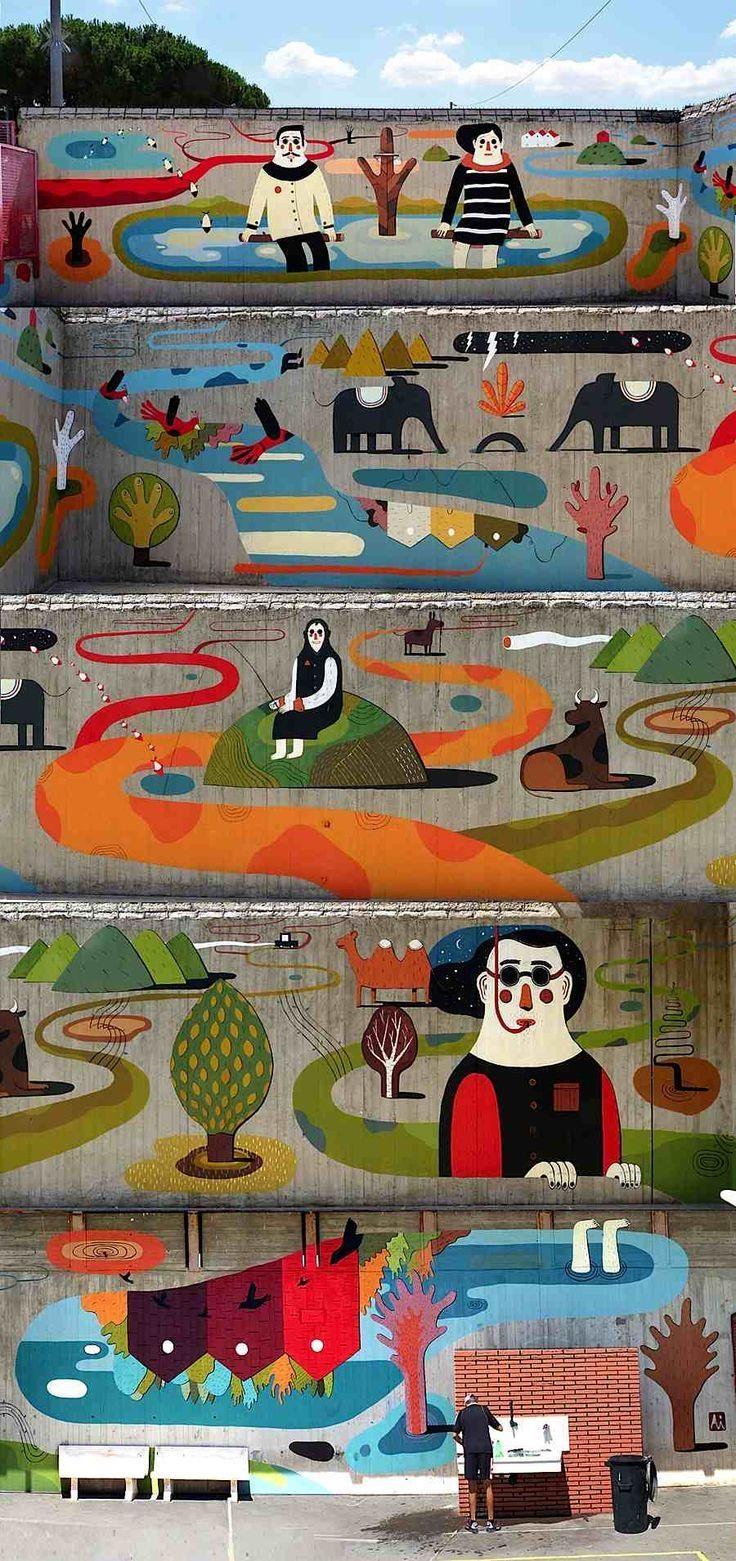 235 Best Street Art / Murals Images On Pinterest | Urban Art Inside Italian Art Wall Murals (Image 2 of 20)