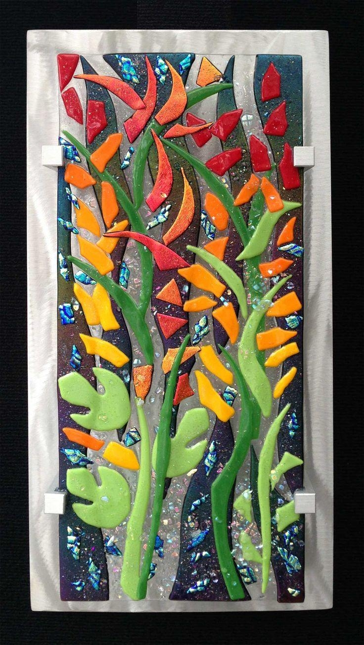 24 Best Fused Glass Art Images On Pinterest | Glass Walls, Stained Pertaining To Contemporary Fused Glass Wall Art (View 10 of 20)