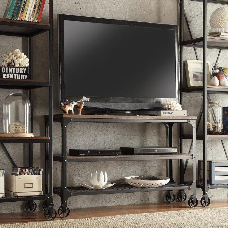 24 Best Meuble Tv Images On Pinterest | Home Decorations, Room With Recent Wooden Tv Stand With Wheels (Image 1 of 20)