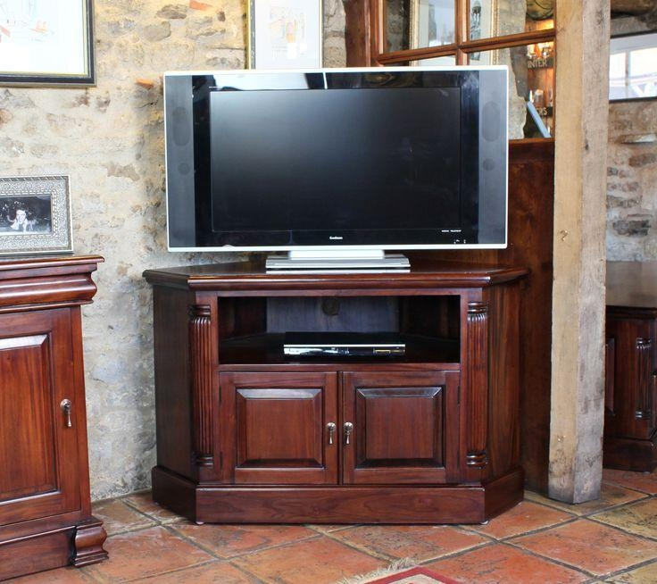 24 Best Muebles Images On Pinterest | Corner Tv Stands, Corner Tv Throughout Newest Mahogany Corner Tv Cabinets (Image 1 of 20)