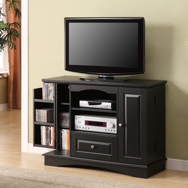 24 Best Tv Stands Images On Pinterest | Wood Tv Stands Regarding Most Recently Released Black Tv Cabinets With Drawers (Image 4 of 20)