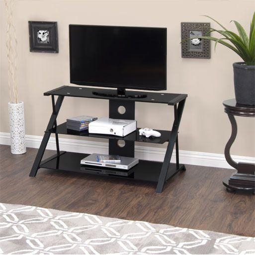 25 Best Calico Designs Modern Metal & Glass Tv Standsstudio Intended For Most Popular Tv Stands 38 Inches Wide (Image 2 of 20)