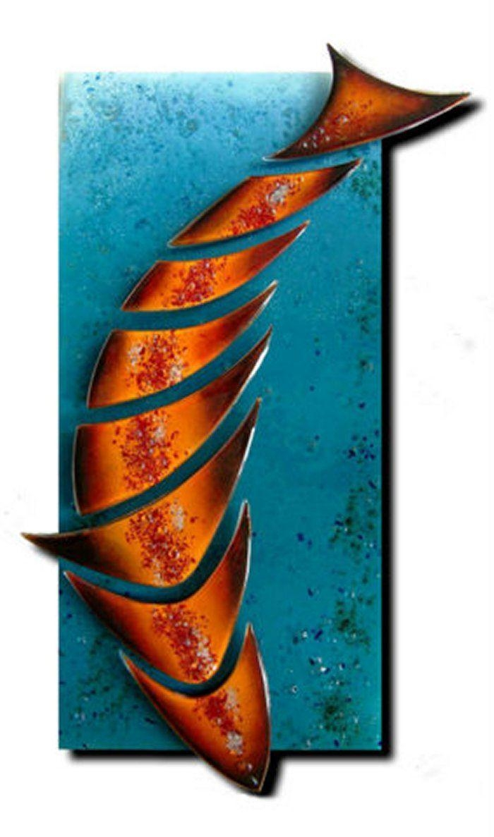 20 best ideas fused glass fish wall art wall art ideas for Glass wall art