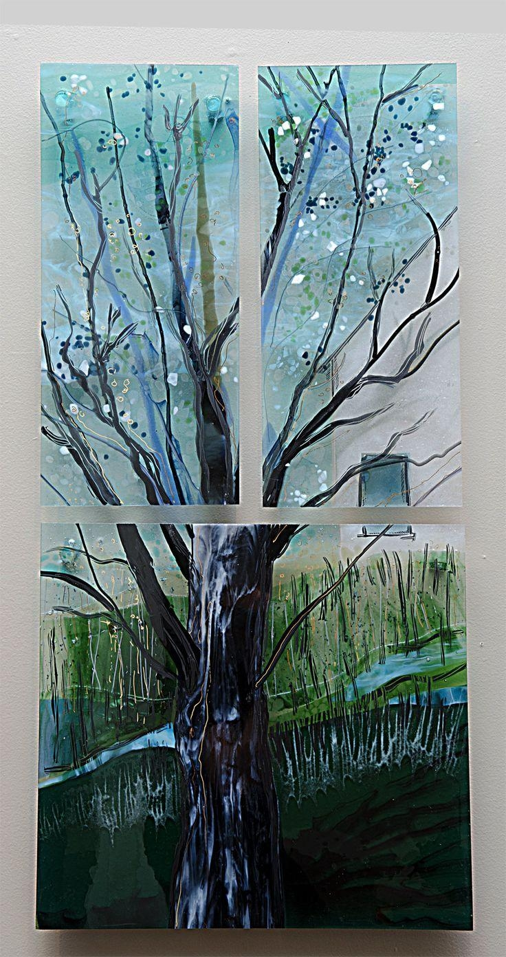 25+ Best Glass Wall Art Ideas On Pinterest | Glass Art, Fused Within Contemporary Fused Glass Wall Art (View 8 of 20)