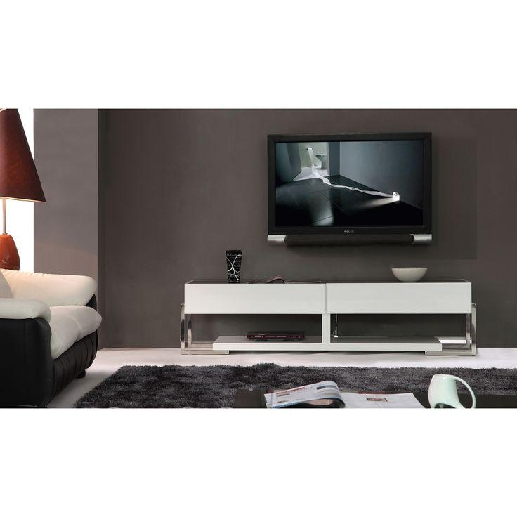 25 Best Tv Stand Images On Pinterest | Modern Tv Stands, High With Most Recently Released White And Black Tv Stands (View 12 of 20)