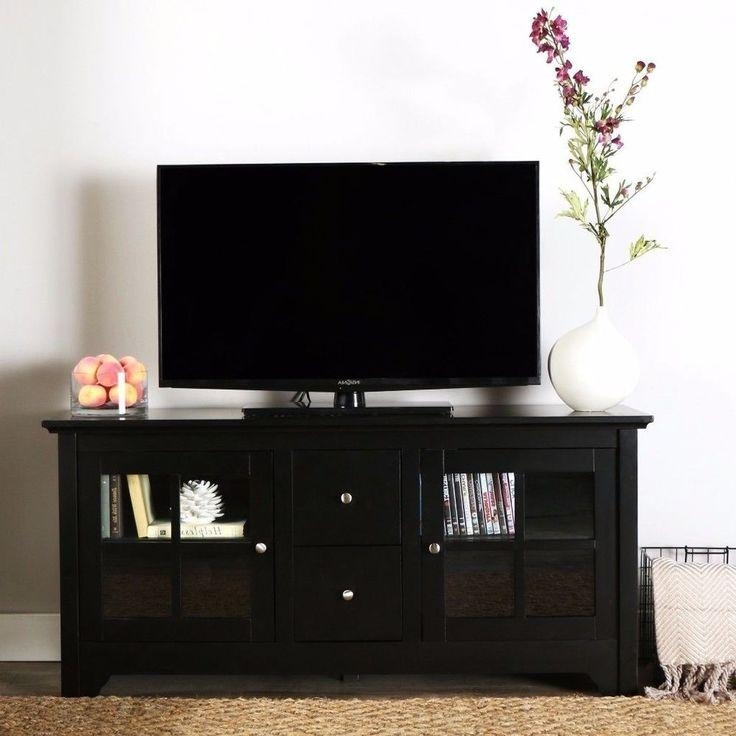 25+ Beste Ideeën Over Solid Wood Tv Stand Op Pinterest – Rustieke Inside Most Up To Date Solid Wood Black Tv Stands (Image 2 of 20)
