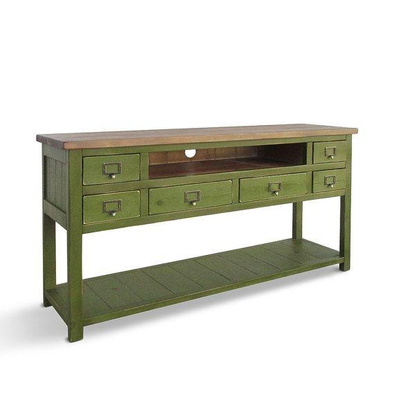 26 Best Reclaimed Wood Entertainment Consoles Images On Pinterest Inside Newest Light Colored Tv Stands (Image 1 of 20)