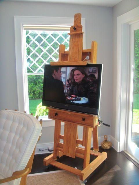 28 Best Flat Screen Stand Images On Pinterest | Flat Screen Tvs With Most Current Easel Tv Stands For Flat Screens (Image 3 of 20)