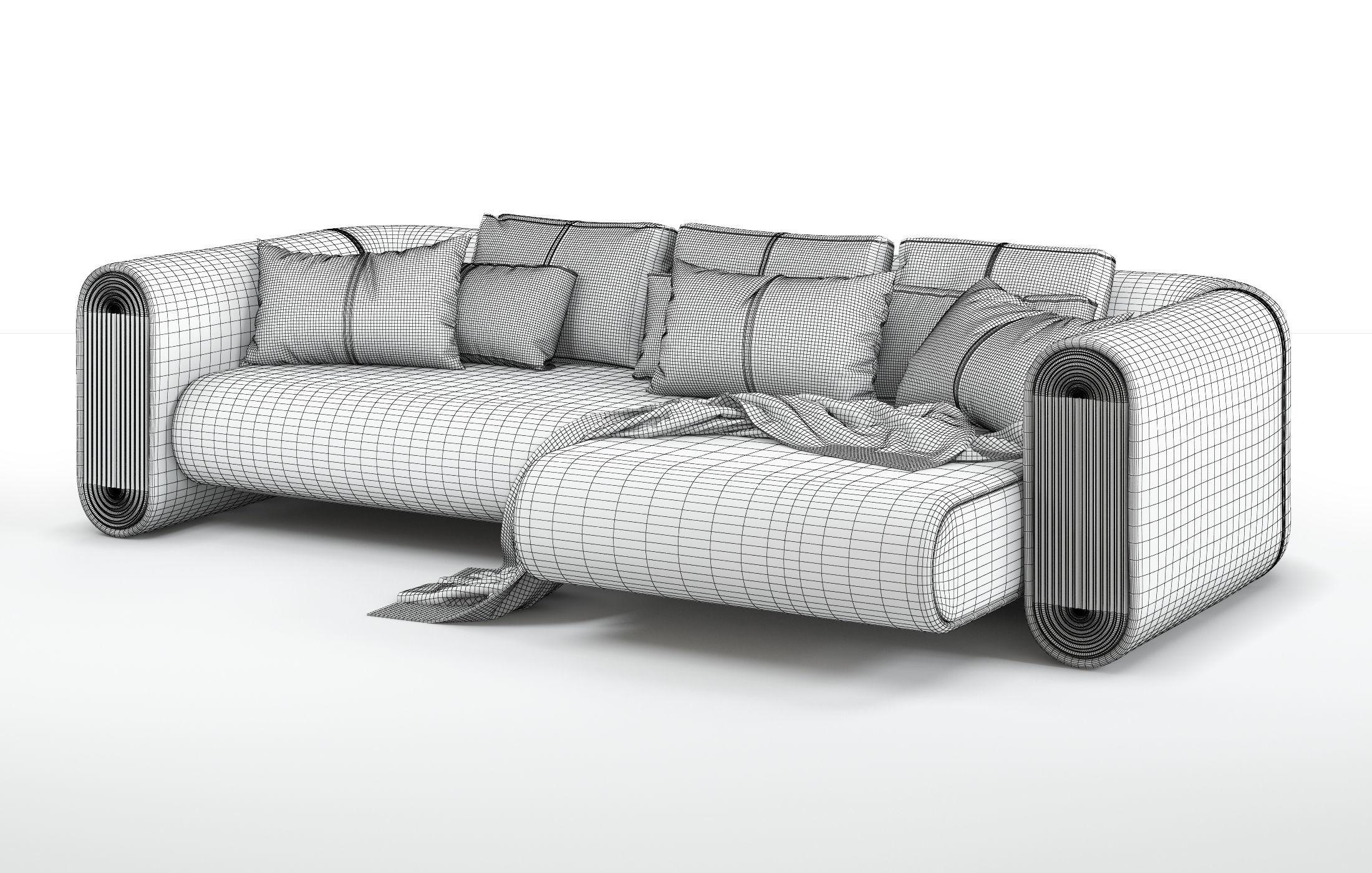 280Cr Union Corner Unit Sofa 3D Model | Cgtrader Intended For Sofa Corner Units (View 17 of 24)