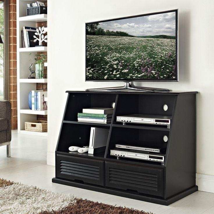 290 Best Tv Stands Images On Pinterest | Tv Stands, Flat Panel Tv For Recent Solid Wood Black Tv Stands (Image 3 of 20)