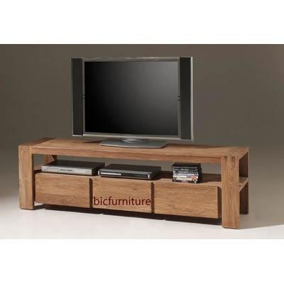 3 Drawer Stylish Tv Cabinet Made Of Teakwood | Bic Entertainment Units In Most Recently Released Tv Drawer Units (Image 1 of 20)