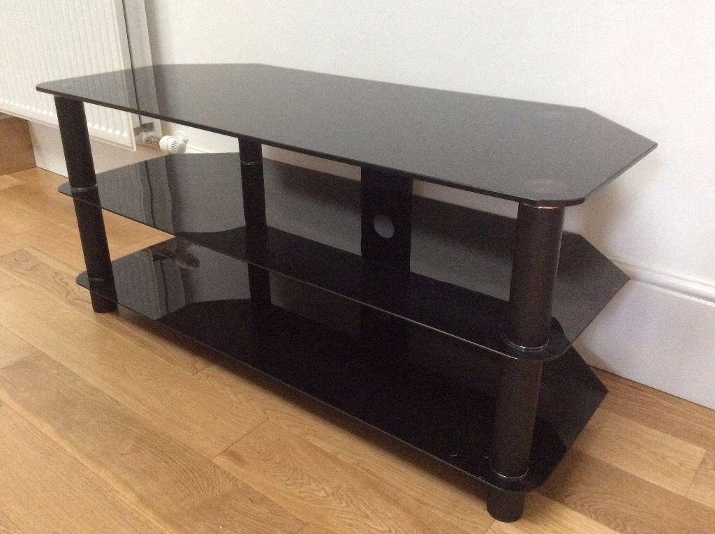 3 Level Smoked Glass Tv Stand - Tv, Dvd & Cameras | Tv, Dvd & Cameras within Latest Smoked Glass Tv Stands