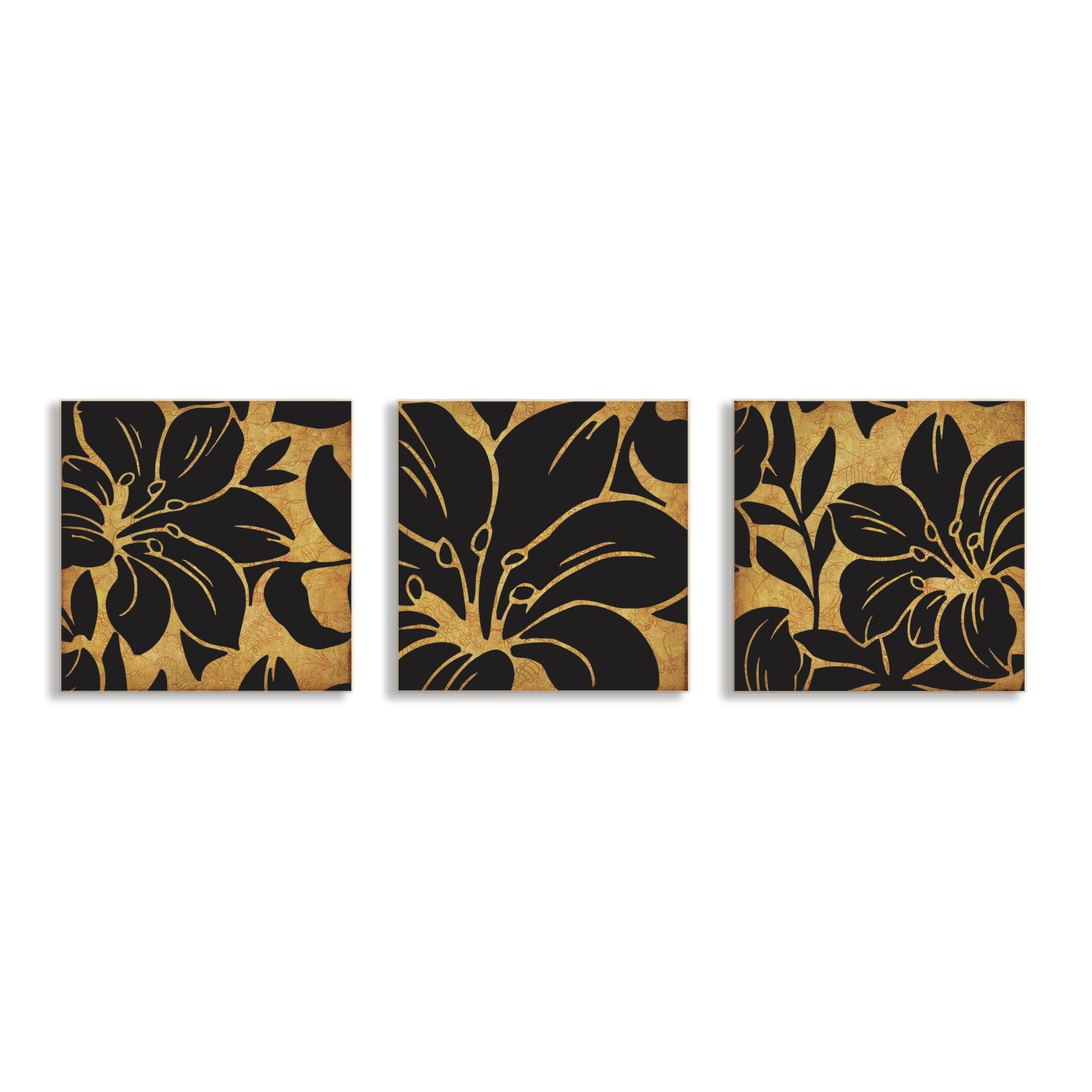 3 Piece Canvas Wall Art | Roselawnlutheran Within 3 Piece Floral Wall Art (Image 1 of 20)
