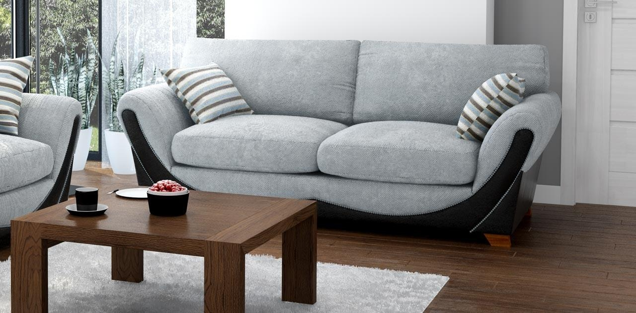 3 Seater Grey Black Sofa Inside 3 Seater Sofas For Sale (View 6 of 21)
