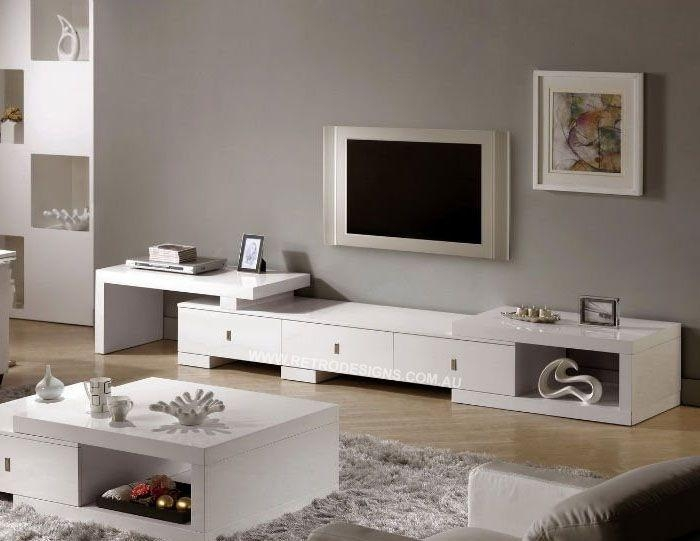 30 Best Test Images On Pinterest | Tv Units, Entertainment And Tv inside 2017 Long White Tv Cabinets