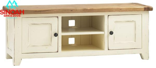 317 Range Solid Oak White Tv Stands Wooden Units Buy Within Most