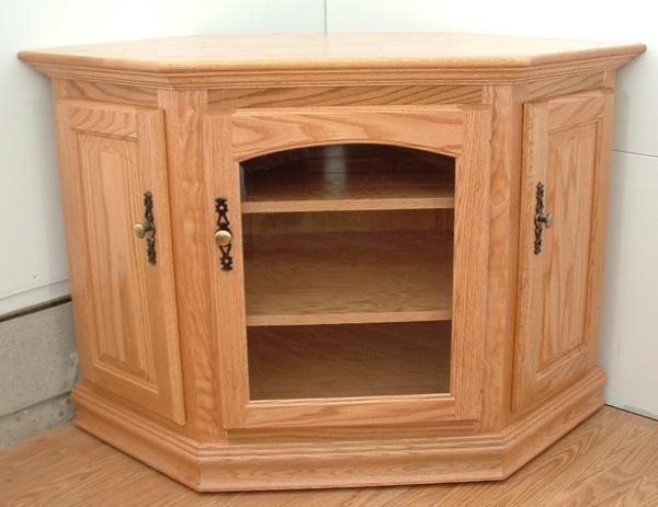 "32"" Corner Or Flatwall Tv Stand – Clear Creek Furniture Inside Most Popular Light Oak Tv Corner Unit (Image 2 of 20)"