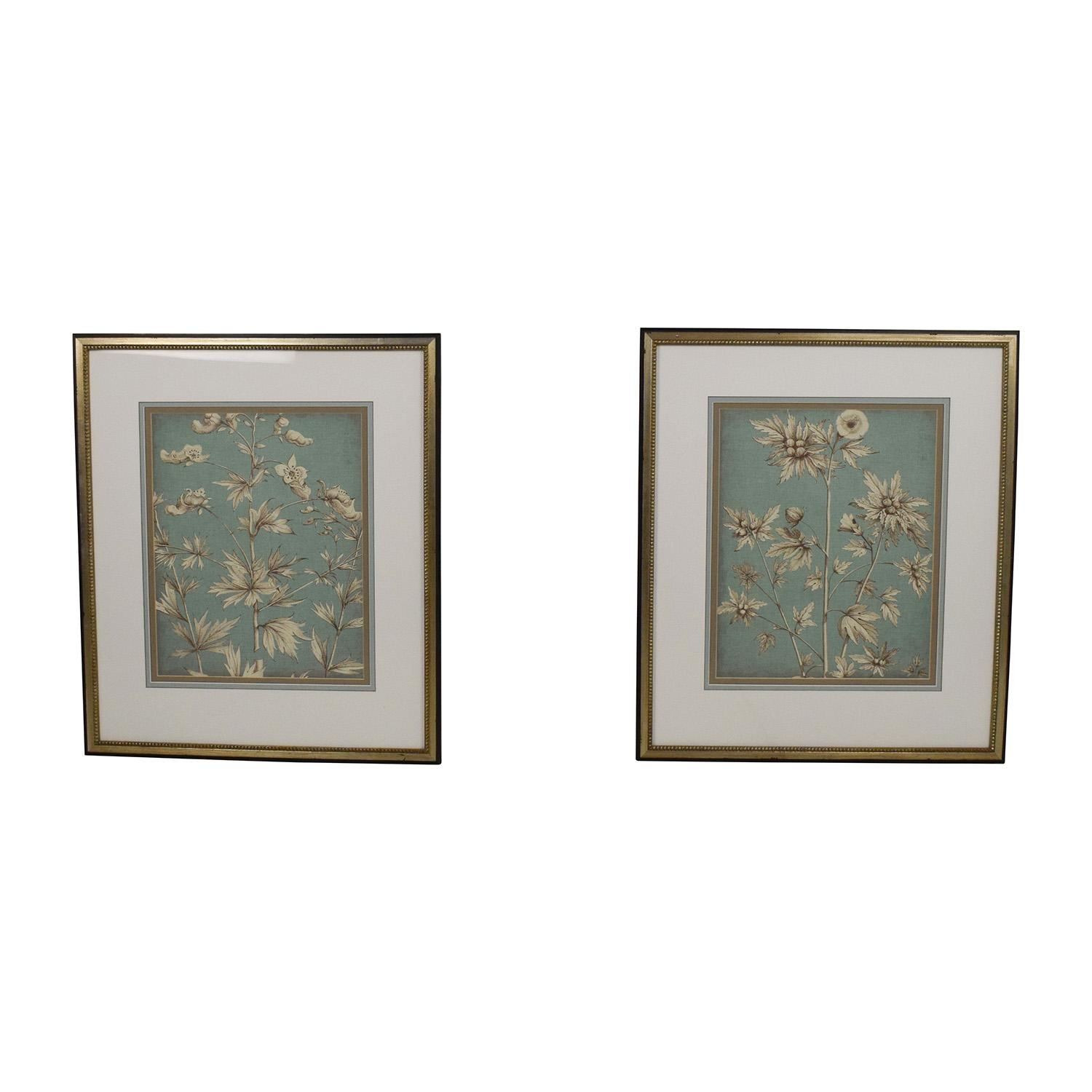 32% Off – Framed Switzerland Church Bridge Needlepoint / Decor In Ethan Allen Wall Art (View 10 of 20)