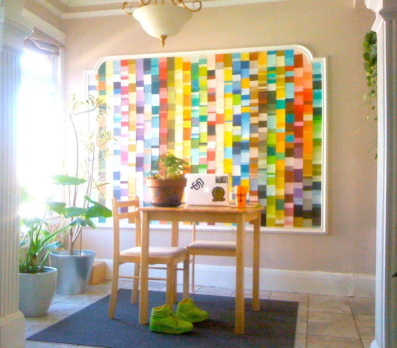 32 Paint Chip Projects - C.r.a.f.t. within Paint Swatch Wall Art