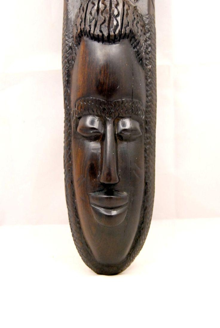 33 Best Carving Creations Images On Pinterest | Africans, African In Wooden Tribal Mask Wall Art (Image 2 of 20)