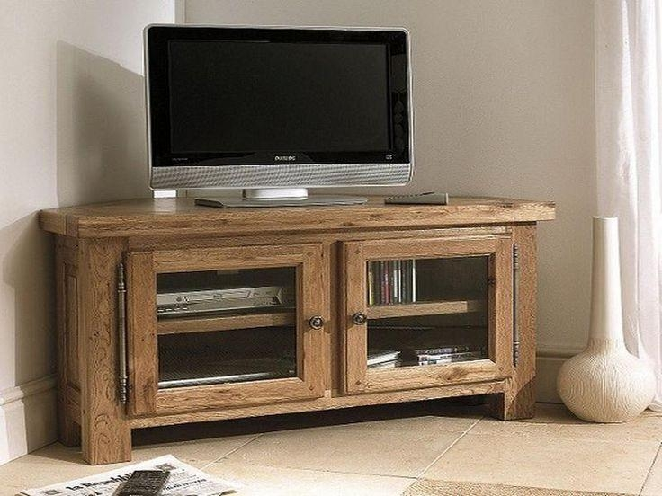34 Best Tv Stands Images On Pinterest | Corner Tv Stands, Living Throughout Most Recently Released Dark Wood Corner Tv Cabinets (Image 4 of 20)