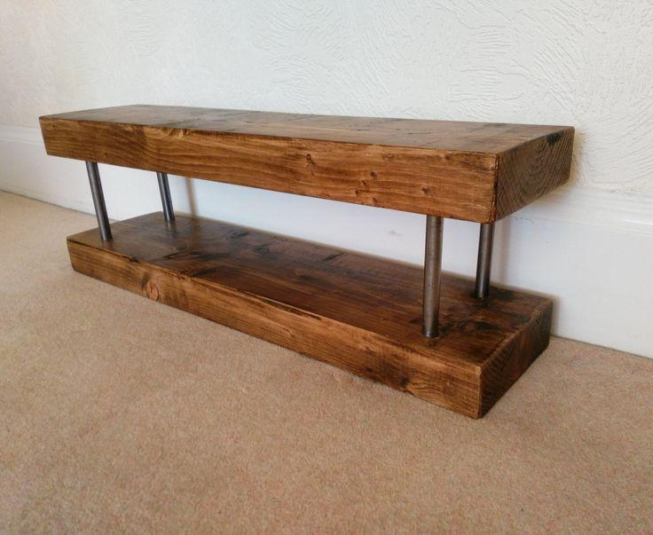 35 Best Tv Entertainment Stands Images On Pinterest inside Newest Chunky Wood Tv Unit