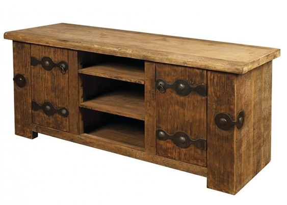 35 Supurb Reclaimed Wood Tv Stands & Media Consoles For Most Up To Date Wooden Tv Stands With Doors (Image 1 of 20)