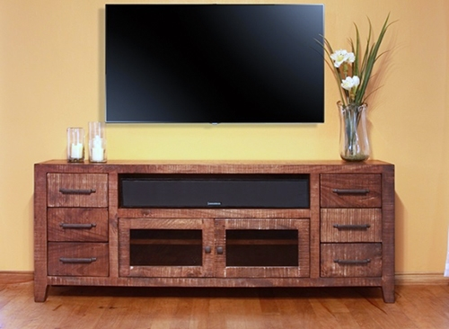 35 Supurb Reclaimed Wood Tv Stands & Media Consoles Inside Most Recently Released Rustic Wood Tv Cabinets (Image 2 of 20)