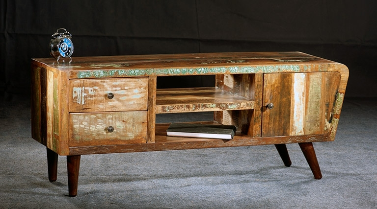 35 Supurb Reclaimed Wood Tv Stands & Media Consoles regarding Most Recently Released Recycled Wood Tv Stands