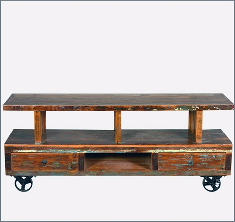 35 Supurb Reclaimed Wood Tv Stands & Media Consoles With Regard To Most Current Reclaimed Wood And Metal Tv Stands (Image 1 of 20)