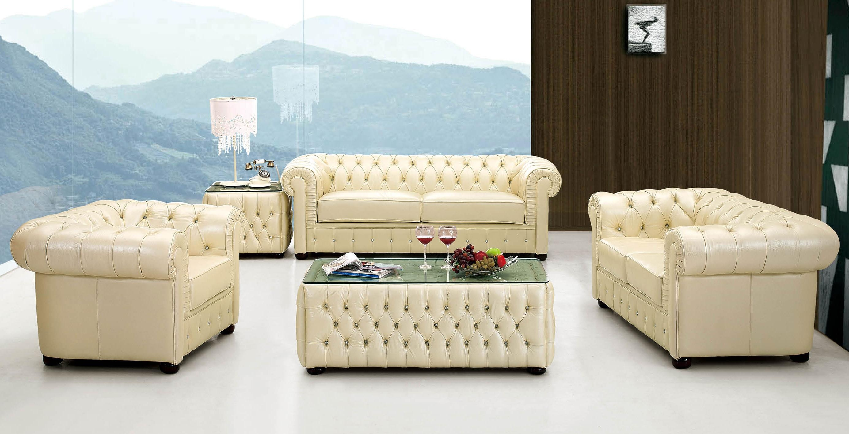 2018 latest ivory leather sofas sofa ideas for Ivory couch living room ideas