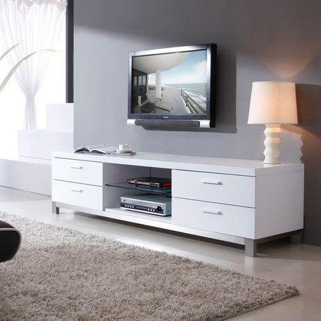 36 Best Tv Stand Images On Pinterest | Tv Stands, Tv Cabinets And Pertaining To Best And Newest Long White Tv Stands (Image 1 of 20)