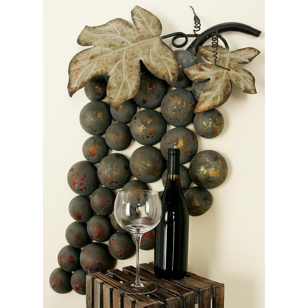 20 ideas of metal grape wall art wall art ideas for Grapes furniture and home decor