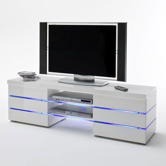 38 Best Tv Stands Images On Pinterest | High Gloss, Tv Stands And With Regard To Most Recent Tv Cabinet Gloss White (Image 1 of 20)