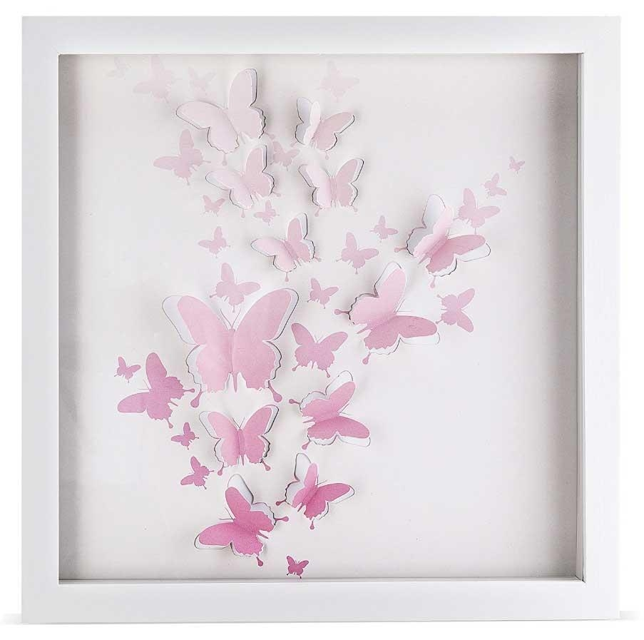 3D Butterfly Framed Wall Art Handcrafted | Home Interior & Exterior Throughout 3D Butterfly Framed Wall Art (View 2 of 20)
