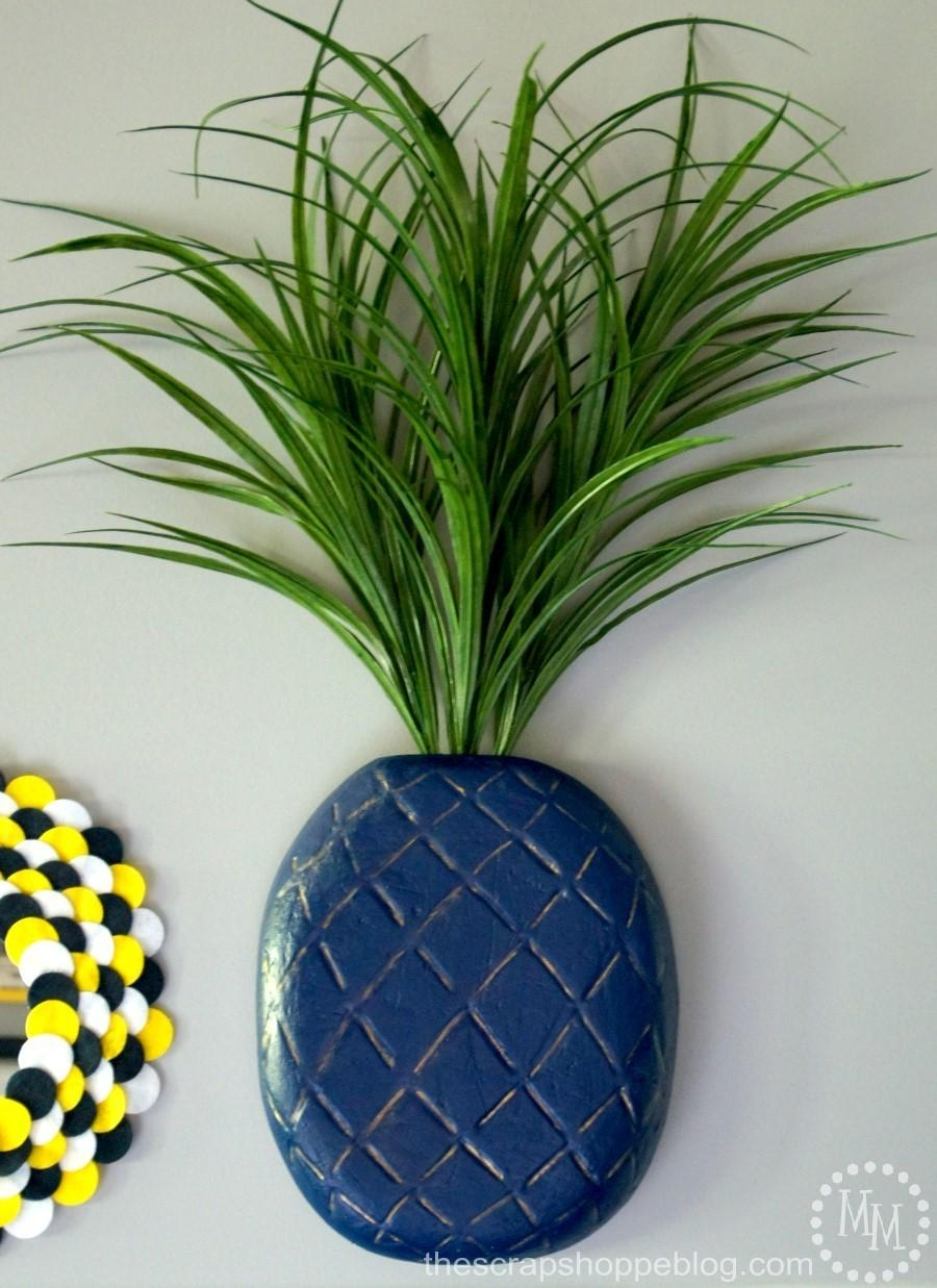 3D Pineapple Wall Art – The Scrap Shoppe In Pineapple Metal Wall Art (Image 1 of 20)