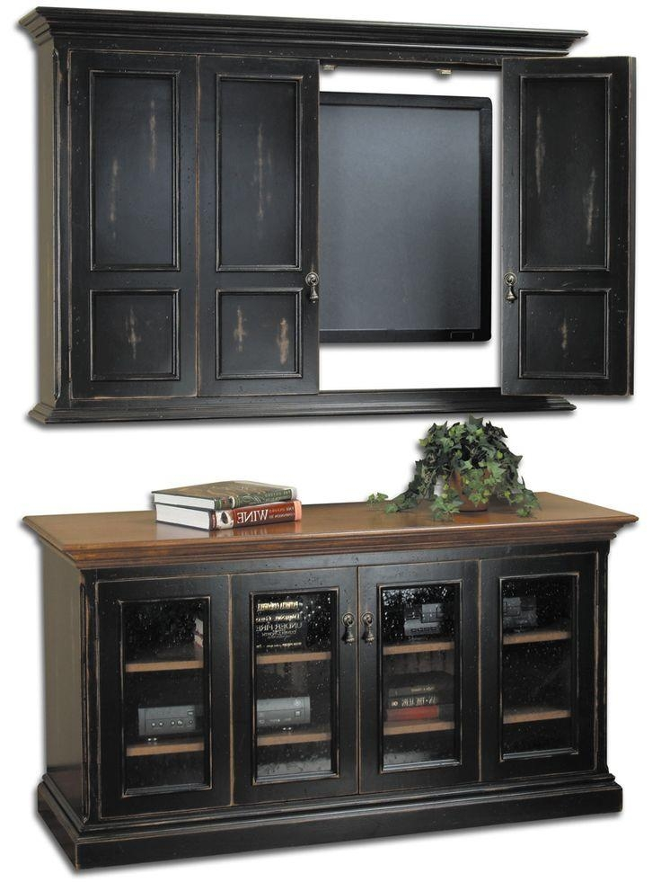 40 Best Armoire Tv Images On Pinterest Walls Entertainment In Recent Wall Mounted
