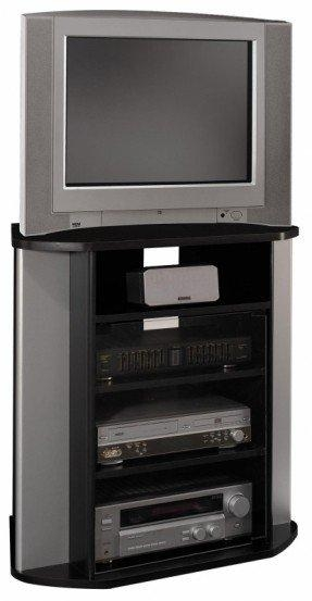 40 Inch Corner Tv Stand - Foter inside Most Recently Released Silver Corner Tv Stands