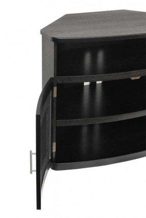40 Inch Corner Tv Stand - Foter inside Newest Black Corner Tv Cabinets With Glass Doors