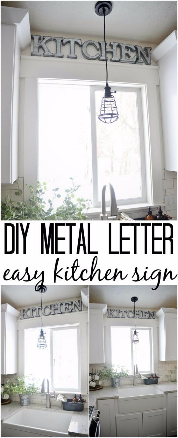 41 Amazing Diy Architectural Letters For Your Walls – Diy Projects Pertaining To Diy Metal Wall Art (Image 1 of 20)