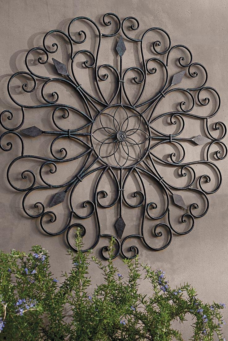 42 Best Wrought Iron Images On Pinterest | Wrought Iron, Outdoor Throughout Iron Art For Walls (Image 1 of 20)
