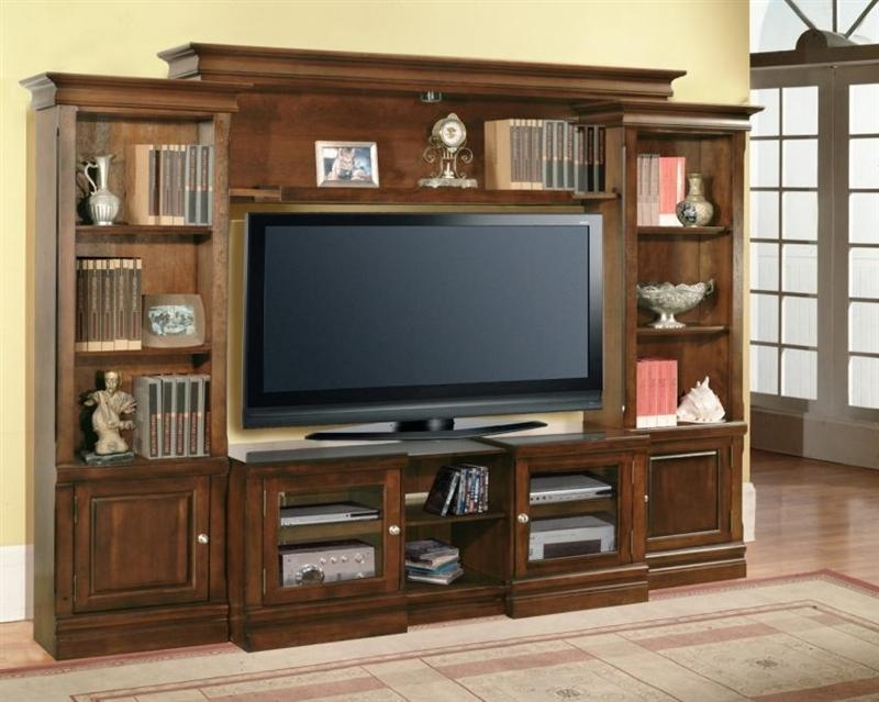 43 60 Inch Tv 4 Piece Premier Wall Unit In Espresso Finish Regarding Current 60 Inch Tv Wall Units (View 6 of 20)