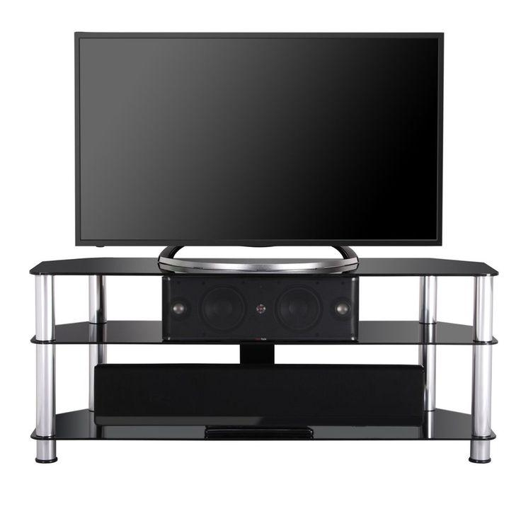 45 Best Tv Stand Images On Pinterest | Tv Stands, Stand For And Xbox Throughout Latest Black Glass Tv Cabinet (View 11 of 20)